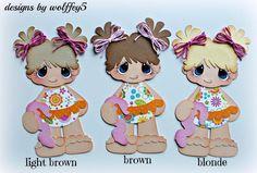 ELITE4U GIRL BEACH POOL paper piecing premade scrapbook page diecut WOLFFEY5 #wolffey5