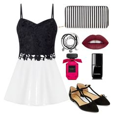 """""""Casual day out in the city"""" by bwaldorfdesigns ❤ liked on Polyvore featuring RED Valentino, Lipsy, Accessorize, New Look and Chanel"""