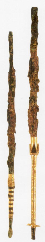 The Hettiters, gold-plated needles (B), Kültepe (Tahsin Özgüç) (Erdinç Bakla archive)