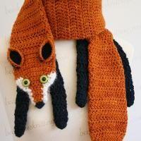 Fox Scarf Crochet Pattern - via @Craftsy