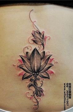 Image result for lotus tattoo ribs
