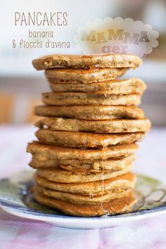 Pancakes con banane e fiocchi d'avena