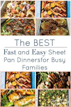 The Best Fast and Easy Sheet Pan Dinners for Families Easy Family Dinners, Fast Dinners, Cheap Dinners, Healthy Family Meals, Quick Easy Meals, Easy Dinner Recipes, Healthy Snacks, Family Recipes, Healthy Kids