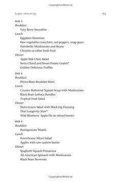Super Immunity Menu Plan Part 4