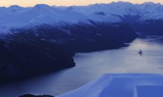 Skiing with a fjord view: Stranda, Fjord Norway