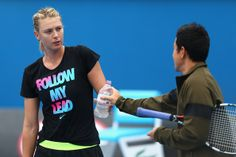 Maria Sharapova - 2014 Australian Open Previews.  Maria Sharapova of Russia looks on during a practice session ahead of the 2014 Australian Open at Melbourne Park on January 11, 2014 in Melbourne, Australia.