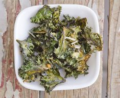 Roasted kale chips, four ways