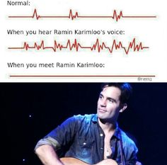 """TOTALLY!!! yes this is what happened and it is like this for ever more. :D haha see what i did for ever more is one of Ramins lines in the song """"Befor the Performance"""" from LOVE NEVER DIES the musical. haha so i think i am the only one who thinks that is funny. but it is like that i met him and my heart stopped. <--- lucky person haha"""