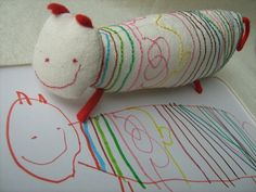This company takes your childs drawing and makes it into a real toy. SO CUTE!!!