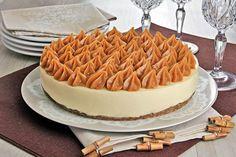 Aprenda esta receita de Cheesecake de doce de leite, que além de ficar uma delícia, é muito prática e fácil de fazer para a sobremesa do fim de semana!