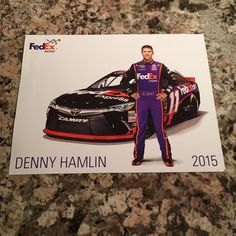 Denny Hamlin 2015 No. 11 FedEx Express Toyota Camry NASCAR Hero Card