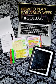 How to plan for a busy week in college