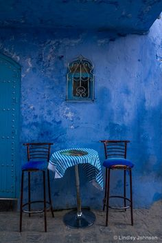 window over table for two, Chefchaouen, Morocco (Lindley Johnson)