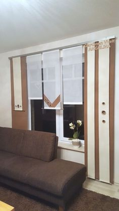 _ Die Gardinen werden nach dem Ka… Hello, WIDTH height IMPORTANT! _ The curtains are made after the purchase according to your specifications …. Mirror Room Divider, Room Divider Shelves, Curtain Room, Diy Curtains, Separating Rooms, Home Hardware, Window Design, House Numbers, Home Accents