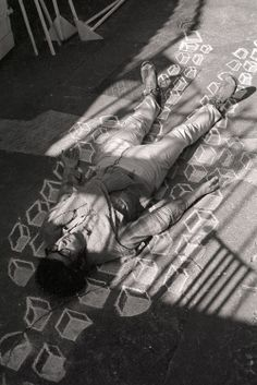 Paul Neagu, Richard Demarco Gallery basement , during Romanian Art Today exhibition, Edinburgh 1971 Images via Richard Demarco Archives Edinburgh, Playground, Indoor Outdoor, Monochrome, Basement, Artsy, Gallery, Photography, Children Playground