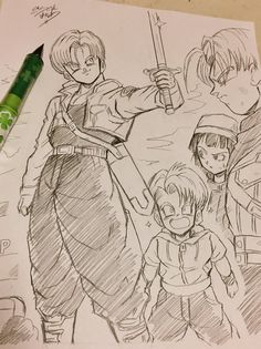 Trunks Dragon Ball Z, Trunks And Mai, Manga Anime, Anime Art, Dbz Drawings, Character Art, Character Design, Manga Dragon, Ball Drawing