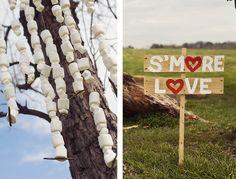 Rustic Farm Wedding - decor - smores - marshmallows - Bright   Ayers Wedding   Winston-Salem, NC Wedding Photographer