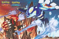 Pokemon Groudon and Kyogre - Official Poster