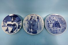 Norwegian Porsgrund Porcelain Holiday Commemorative Christmas Plates 1968-1970 #Porsgrund