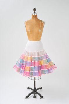 1950's Rainbow Ombre Crinoline Skirt Candy Colored by missfarfalla, $115.00