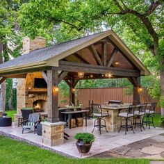 Backyard Pavilion, Backyard Gazebo, Small Backyard Patio, Backyard Patio Designs, Backyard Landscaping, Patio Ideas, Backyard Ideas, Backyard Pools, Gazebo Ideas