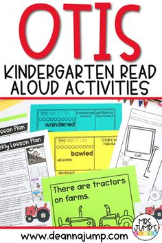 Otis is a great kindergarten read aloud to use as part of your fall lesson plans. With these read aloud activities, k-1 students can work on kindergarten comprehension skills like retelling and making connections.