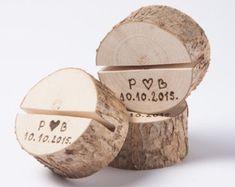 20 Holztisch Anzahl Halter Rustic Hochzeit Dekor von DINDINTOYS