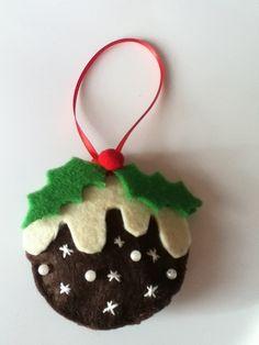 Jolly little Felt Christmas Pudding £1.99