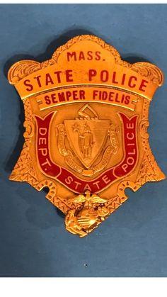 Massachusetts State Police/USMC Badge