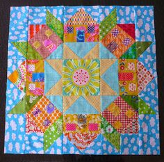 Blue Mountain Daisy: Sunny Days in Swoon Town Love the little houses in the Swoon pattern