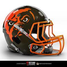 Artist creates concept helmets for NCAA football teams 32 Nfl Teams, College Football Teams, High School Football, Football Fans, New Football Helmet, Helmet Logo, Custom Helmets, Nfl Gear, Nfl Logo