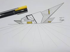 "78 Likes, 5 Comments - TALARSAZ (@siyar_taha) on Instagram: ""Denver Art Museum  #usa #denver #art #museum #daniel #libeskind  #sketch #ink #pen #architectural…"""