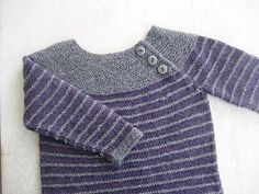 Ideas for baby crochet jumper libraries Knitting For Kids, Baby Knitting Patterns, Crochet For Kids, Free Knitting, Crochet Jumper, Knit Crochet, Pull Bebe, Knit Baby Sweaters, Kids Patterns