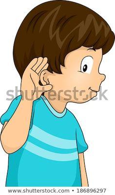 Illustration of a Little Boy with His Hand Pressed Against His Ear in a Listening Gesture Kids Cartoon Characters, Cartoon Kids, School Board Decoration, Preschool Classroom Decor, Holiday Homework, School Border, Dog Clip Art, Teacher Cartoon, Community Helpers Preschool