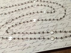 Sterling Silver Bead Chain Necklace Silver by AngelWearDesigns2013
