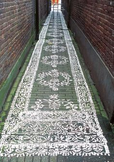hand painted flooring.