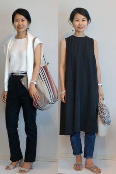Japanese Minimalist Fashion, Japanese Street Fashion, Minimal Fashion, Asian Fashion, Simple Outfits, Casual Outfits, Summer Outfits, Fashion Outfits, Womens Fashion