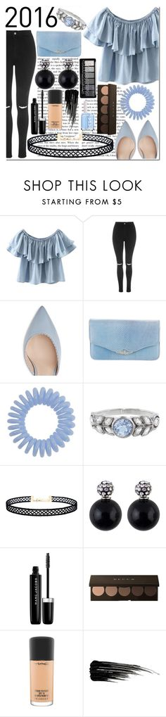 """""""Best Trend 2016: Off-the-Shoulder Tops and Chokers"""" by emmy-124fashions ❤ liked on Polyvore featuring WithChic, Topshop, Judith Leiber, Cathy Waterman, LULUS, Marc Jacobs, MAC Cosmetics, Urban Decay, Essie and besttrend2016"""