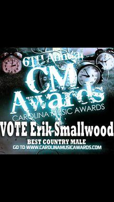 Please do me a huge favor and VOTE!!! www.carolinamusicawards.com
