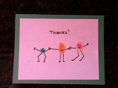 Here's a quick simple thank you note idea for kids... The boys received lots of thoughtful gifts from family for Christmas and I think it's...