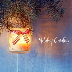 Try these DIY candles as a fun holiday activity the whole family can get involved in! Terra Essential Oils, Essential Oil Candles, Holiday Fun, Holiday Gifts, Diy Candles Easy, Holiday Candles, Natural Candles, Burlap Ribbon, Holiday Activities