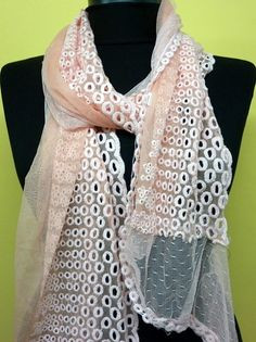Baby Pink  Women Shawl Scarf  Headband Necklace Cowl by fatwoman, $19.00