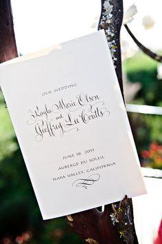 custom_wedding_program_hyegraph_invitations_and_calligraphy, www.hyegraph.com