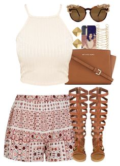 """Untitled #1530"" by power-beauty ❤ liked on Polyvore featuring River Island, Ally Fashion, MICHAEL Michael Kors and Vince Camuto"