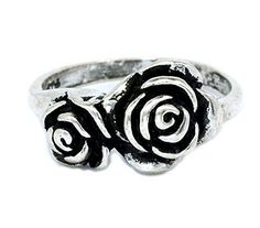 Lovely Couple Rose Ring Design with 925 Sterling Silver s