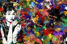 Audrey Hepburn Art Canvas Wall Art Pop Art Paintings Drawing Posters
