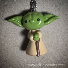 #clunkycrafts.com #starwars Star Wars #yoda #Chewbacca #princessleia #disney #polymerclay #polymer #claycharm