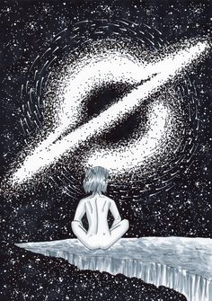 Black and white drawing Black And White Drawing, Universe, Ink, Drawings, Movie Posters, Movies, Film Poster, Films, Outer Space