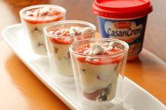 Receta Trifle de frutilla y chocolate blanco de Casancrem