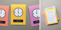 Around the Clock themed shower invitations. Never heard of this before, but it's a cool idea.